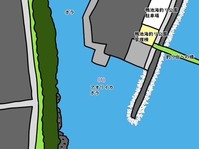 公園 釣り 鴨池 海